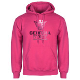 Fuchsia Fleece Hood-Official Logo Foil