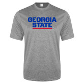 Performance Grey Heather Contender Tee-Georgia State Wordmark