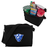 Koozie Six Pack Black Cooler-Panther Head