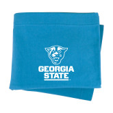 Light Blue Sweatshirt Blanket-Official Logo