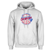 White Fleece Hoodie-Sun Belt Mens Basketball Champions