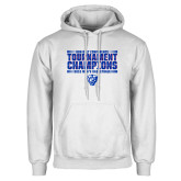 White Fleece Hoodie-Sun Belt Mens Tournament Champions