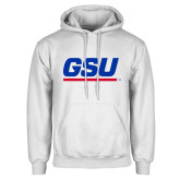 White Fleece Hood-GSU