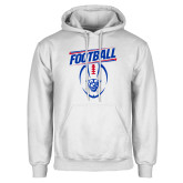 White Fleece Hoodie-Panther Head w/ Football