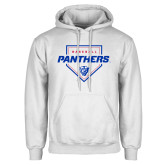 White Fleece Hoodie-Panthers Baseball w/ Plate
