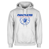White Fleece Hoodie-Panthers Volleyball w/ Ball