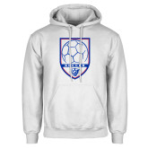 White Fleece Hoodie-Soccer Shield w/ Panther Head