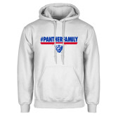 White Fleece Hoodie-#PantherFamily