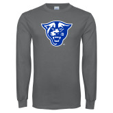 Charcoal Long Sleeve T Shirt-Panther Head