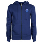 ENZA Ladies Royal Fleece Full Zip Hoodie-Panther Head