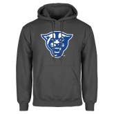 Charcoal Fleece Hoodie-Panther Head