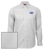 Red House White Diamond Dobby Long Sleeve Shirt-Georgia State Wordmark