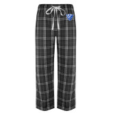 Black/Grey Flannel Pajama Pant-Panther Head