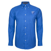 Mens Royal Oxford Long Sleeve Shirt-Panther Head
