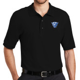 Black Easycare Pique Polo-Panther Head