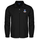Full Zip Black Wind Jacket-Official Logo