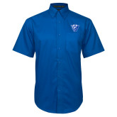 Royal Twill Button Down Short Sleeve-Panther Head