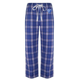 Royal/White Flannel Pajama Pant-Panther Head
