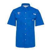 Columbia Bonehead Royal Short Sleeve Shirt-Panther Head