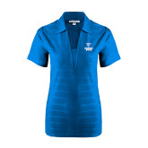 Ladies Sapphire Horizontal Textured Polo-Official Logo