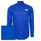 Red House French Blue Dobby Long Sleeve Shirt-Georgia State Wordmark