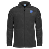 Columbia Full Zip Charcoal Fleece Jacket-Panther Head