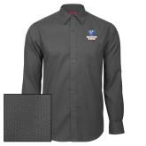 Red House Dark Charcoal Diamond Dobby Long Sleeve Shirt-Official Logo