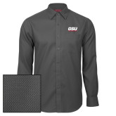Red House Dark Charcoal Diamond Dobby Long Sleeve Shirt-GSU