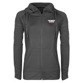 Ladies Sport Wick Stretch Full Zip Charcoal Jacket-Georgia State Wordmark