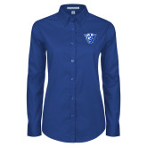 Ladies Royal Twill Button Down Long Sleeve-Panther Head
