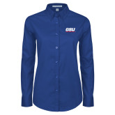 Ladies Royal Twill Button Down Long Sleeve-GSU