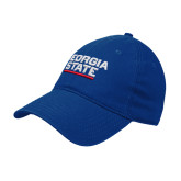 Royal Twill Unstructured Low Profile Hat-Georgia State Wordmark