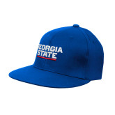 Royal OttoFlex Flat Bill Pro Style Hat-Georgia State Wordmark