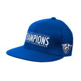 Royal OttoFlex Flat Bill Pro Style Hat-2018 Mens Basketball Champs