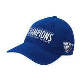 Royal OttoFlex Unstructured Low Profile Hat-2018 Mens Basketball Champs