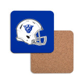 Hardboard Coaster w/Cork Backing-Panther Head Football Helmet