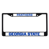 Metal License Plate Frame in Black-Panthers