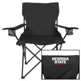 Deluxe Black Captains Chair-Georgia State Wordmark