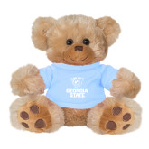 Plush Big Paw 8 1/2 inch Brown Bear w/Light Blue Shirt-Official Logo
