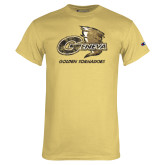 Champion Vegas Gold T Shirt-Primary Mark Distressed