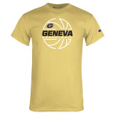 Champion Vegas Gold T Shirt-Geneva College Basketball  Lined Ball