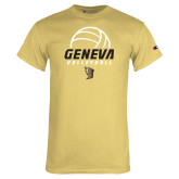Champion Vegas Gold T Shirt-Geneva Volleyball Half Ball
