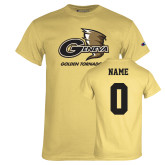 Champion Vegas Gold T Shirt-Primary Logo, Custom Tee w/ Name and #