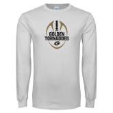 White Long Sleeve T Shirt-Golden Tornadoes Football