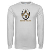 White Long Sleeve T Shirt-Geneva College Football Tall