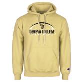 Champion Vegas Gold Fleece Hoodie-Geneva College Football Half Ball
