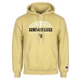 Champion Vegas Gold Fleece Hoodie-Geneva College Basketball Half Ball