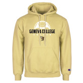 Champion Vegas Gold Fleece Hoodie-Geneva College Soccer Stacked