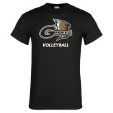 Black T Shirt-Volleyball