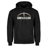 Black Fleece Hoodie-Geneva College Football Half Ball